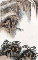 山水 立轴 纸本 - 弭菊田 - 齐鲁画风奠基者 - 2011春季艺术品拍卖会 -中国收藏网