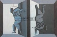 王广义 1988年作 格式中的圣婴 - 王广义 - 中国油画雕塑 - 2006秋季拍卖会 -收藏网