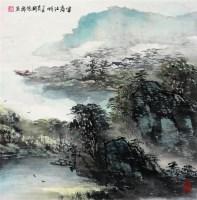 胡振郎  富春江畔 - 胡振郎 - 中国书画 - 2008年秋季大型艺术品拍卖会 -收藏网