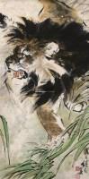 雄狮 立轴 设色纸本 - 116765 - 中国书画(二) - 2011年夏季拍卖会 -收藏网