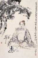 刘国辉 2003年作 高士图 立轴 水墨纸本 - 刘国辉 - 中国书画(二) - 2006秋季艺术品拍卖会 -收藏网