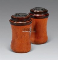 匏器蝈蝈盒 (一对) -  - 珍瓷雅器 - 2011年春季拍卖会 -收藏网