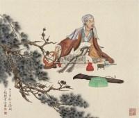 高士图 镜框 设色纸本 - 118502 - 小品与扇画专场 - 2011年春季艺术品拍卖会 -中国收藏网