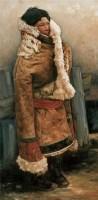 耿万义 憾风 布面 油画 - 127193 - 油画 - 2006年金秋珍品拍卖会 -收藏网