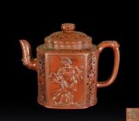 西方天王紫砂壶 -  - 瓷器、玉器、杂项 - 2012年台湾艺术品专场拍卖会 -收藏网