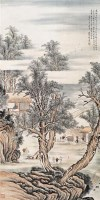 金城 山水人物 立轴 设色纸本 - 金城 - 中国书画 - 2006秋季文物艺术品展销会 -收藏网