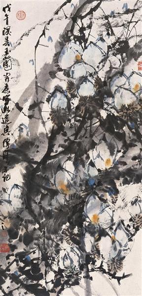 舒传曦 1978年作 玉兰 立轴 设色纸本 - 20945 - 中国书画(一) - 2006秋季艺术品拍卖会 -收藏网
