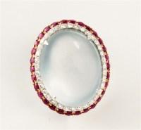 """红宝石镶老种翡翠套件 -  - 瑰丽翡翠拍卖会 - """"春和景明""""瑰丽翡翠拍卖会 -中国收藏网"""