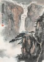 周元亮 山水 立轴 设色纸本 - 116788 - 中国书画 - 2006首届艺术品拍卖会 -收藏网