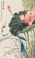 荷塘清趣 立轴 纸本 - 4433 - 中国书画 - 2011金秋艺术品大型拍卖会 -收藏网