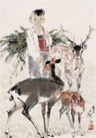 李延声  鹿童 镜心 - 李延声 - 当代中国书画(二) - 2006畅月(55期)拍卖会 -收藏网
