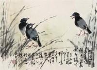 小鸟 镜心 - 叶绿野 - 中国书画 - 第67期中国书画拍卖会 -收藏网