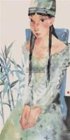 人物 镜心 设色纸本 - 117043 - 中国书画 - 第117期月末拍卖会 -收藏网