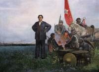 安杰 1979-85年作 长征路上 布面 油画 - 安杰 - 中国当代油画 - 2006首届中国国际艺术品投资与收藏博览会暨专场拍卖会 -收藏网