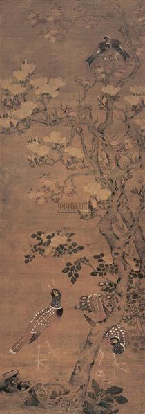 花鸟 立轴 设色绢本 -  - 中国书画(一) - 2006年秋季拍卖会 -中国收藏网