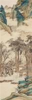 云山观鹤 立轴 设色纸本 -  - 中国书画 - 2011秋季拍卖会 -收藏网