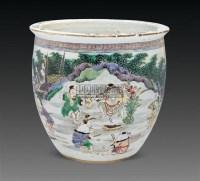 五彩人物缸 -  - 古董珍玩 - 2011春季艺术品拍卖会 -收藏网
