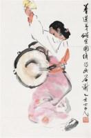 鼓舞 立轴 设色纸本 - 1356 - 中国书画、油画 - 2011冬季古今艺术品拍卖会 -收藏网