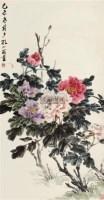 牡丹 立轴 设色纸本 - 孔小瑜 - 中国书画 - 2011年夏季艺术品拍卖会 -收藏网