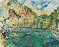 AFFANDI City by the water -  - 现代及当代东南亚艺术 - 2007春季艺术品拍卖会 -收藏网
