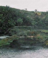 小河清清 布面油画 - 张冬峰 - 油画 - 2007年油画拍卖会 -收藏网