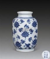 清雍正 青花缠枝莲纹小瓶 -  - 古董文玩 - 第68期拍卖会 -收藏网