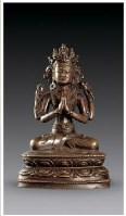 黄铜四臂观音菩萨像 -  - 佛像唐卡 - 2007春季艺术品拍卖会 -收藏网