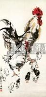黄胄  ROOSTER AND CHICKS hanging scroll - 7693 - 中国书画 - 2007年秋季拍卖会 -收藏网