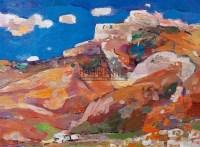 长城之二 布面油画 - 阎振铎 - 油画 - 2009春季大型艺术品拍卖会 -收藏网