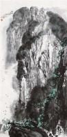 山水 立轴 设色纸本 - 10603 - 中国书画 - 2011秋季艺术品拍卖会 -收藏网