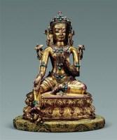 明早期(15世纪) 绿度母 -  - 古董珍玩专场 - 2008年迎春艺术品拍卖会 -收藏网