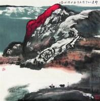 山水 镜心 设色纸本 - 白庚延 - 中国书画 - 2008太平洋迎春艺术品拍卖会 -收藏网