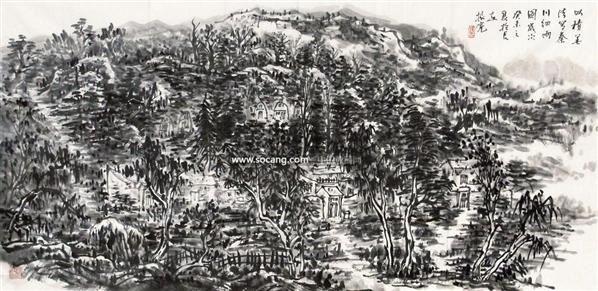 山水 镜心 - 114802 - 中国书画 - 2011年首屇艺术品拍卖会 -中国收藏网