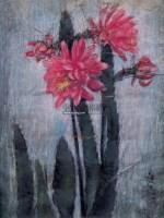 令箭荷花 纸本 粉彩 - 7327 - 名家西画 当代艺术专场 - 2008年秋季艺术品拍卖会 -收藏网