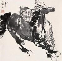刘勃舒 1986年作 马 立轴 水墨纸本 - 刘勃舒 - 中国书画(二) - 2006秋季艺术品拍卖会 -收藏网