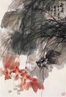 王兰若 庚申(1980年)作 雨後 镜心 纸本 - 王兰若 - 中国书画(二) - 2006年第4期嘉德四季拍卖会 -收藏网