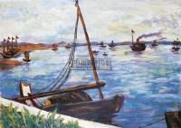 《湖畔》 纸本 水粉 - 关紫兰 - 中国现当代油画雕塑专场 - 2010年秋季艺术品拍卖会 -收藏网