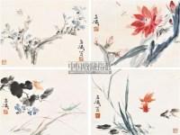 草虫 册页 纸本设色 - 王雪涛 - 中国书画(三) - 2011春季艺术品拍卖会 -收藏网