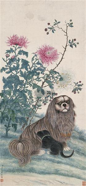 花卉动物 立轴 设色纸本 - 117047 - 中国古代书画 - 2009仲夏(第8期)