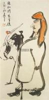 林和靖先生像 立轴 纸本 彩色 - 116627 - 当代美术 西洋美术 - 2011秋季伊斯特香港拍卖会 -收藏网