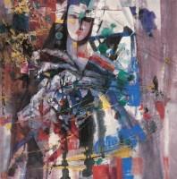 石齐 远去的歌声 镜心 设色纸本 - 石齐 - 中国书画(一) - 2006秋季艺术品拍卖会 -收藏网