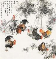 大吉图 镜片连框 - 蒋伟 - 中国书画(二) - 2011金秋拍卖会 -收藏网