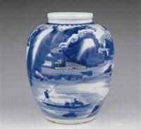青花人物罐 -  - 瓷器 玉器 杂项 - 2006年夏季拍卖会 -中国收藏网