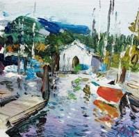 西雅图湾 油画 - 9057 - 中国书画 - 2011年首屇艺术品拍卖会 -收藏网