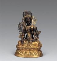 清中期 铜鎏金白度母像 -  - 妙音天籁-佛教艺术品 - 2006年秋(十周年)拍卖会 -收藏网