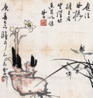 水仙 镜心 - 蒋风白 - 中国书画 - 第68期中国书画拍卖会 -收藏网