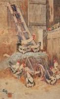 农舍小憩 镜心 设色纸本 - 汪亚尘 - 中国近现代书画 - 2006冬季拍卖会 -收藏网