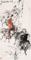 风尘三侠 立轴 设色纸本 - 施大畏 - 中国当代书画 - 2006春季大型艺术品拍卖会 -收藏网