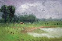 湖畔 布面 油画 - 马金梁 - 中国油画水彩 中国书画 - 厦门伯雅二周年书画拍卖会 -收藏网