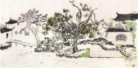 小桥人家 镜片 - 吴冠中 - 中国书画 - 2011年春季艺术品拍卖会 -中国收藏网